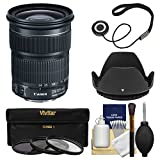 Canon EF 24-105mm f/3.5-5.6 IS STM Zoom Lens with 3 Filters + Hood + Kit for EOS 6D, 70D, 7D 5D Mark II III, Rebel T3, T3i, T5, T5i, SL1 DSLR Camera