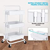Homemaxs 3 Tier Rolling Utility Storage Cart with