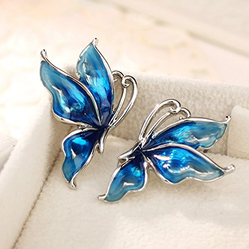 Neoglory Jewellery Papillon Vivant Boucles d'Oreilles Bijoux Pour Femmes En Coffret