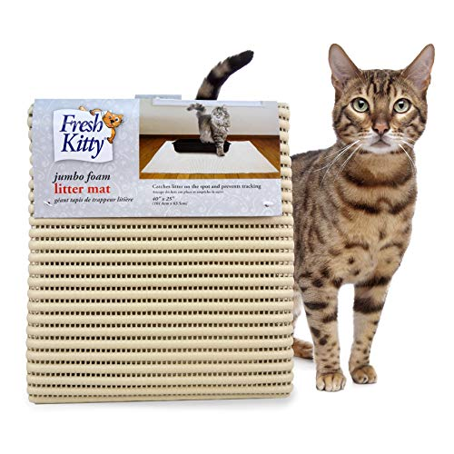 Fresh Kitty Durable XL Jumbo Foam Litter Mat – BPA and Phthalate Free, Water Resistant, Traps Litter from Box, Scatter Control, Easy Clean Mats 40