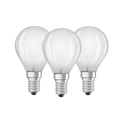 Osram 819399 Bombilla LED E14, 4 W, Blanco, 3 Unidades