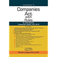 Companies Act with Rules-As amended by Companies (Amdt.) Act 2019 (Paperback Pocket Edition) (31st Edition August 2019)