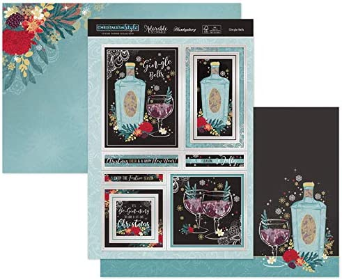 New Hunkydory Gingle Bells Christmas Toppers /& Card Kit In Style