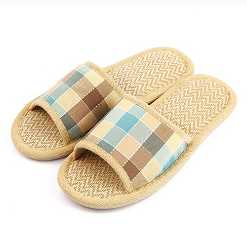 c47b6ed7278c SDKIR-Home Furnishing slippers cotton linen slippers for men and women  couples home interior wooden