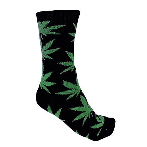 PlantLife Calcetines/Medias - Tamaño Unico- negro/verde: Amazon.es: Zapatos y complementos
