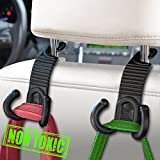 #3: MEINA Car Headrest Hook - Headrest Hooks For Car - Car Seat Hooks Organizer - Backseat Headrest Hanger Holder- Vehicle Universal Storage for Bag Purse Grocery Bottle