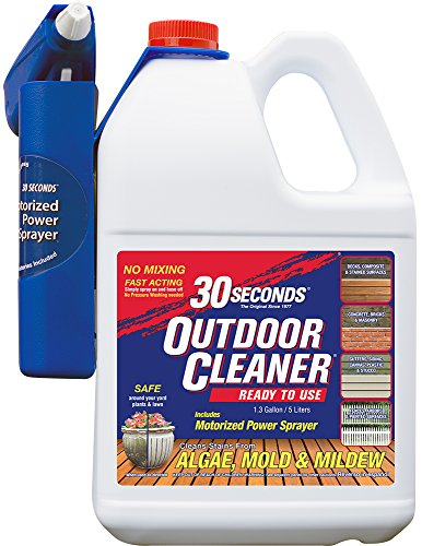 30 SECONDS Outdoor Cleaner, 1.3 Gallon - Ready-to-Use with Motorized Power Sprayer (Brick Patio Grass And)