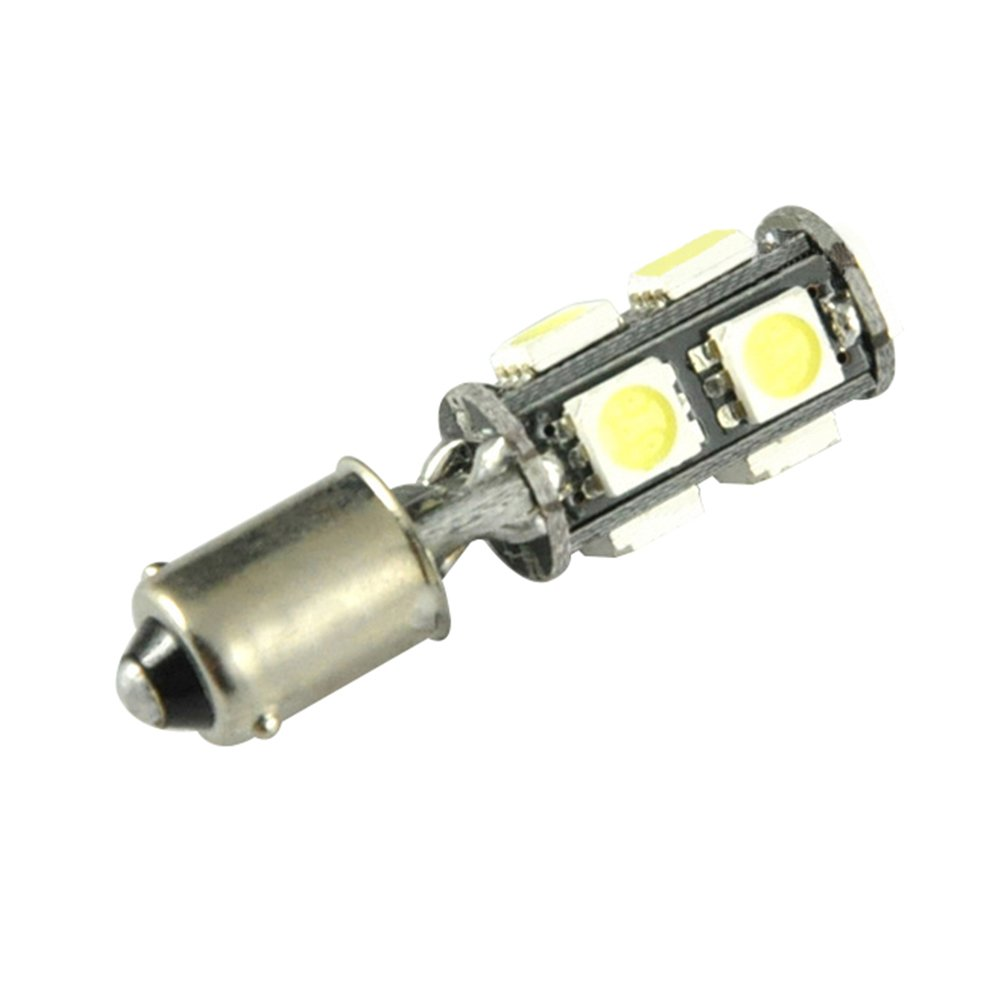TABEN White BA9 BA9S 53 57 1895 64111 Led Interior License Plate Bulbs CanBus Error Free 5050 9smd Led Interior License Plate Map Dome Light Bulb Lamp 10-Pack