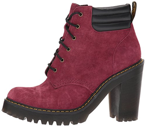 Martens Martens Persephone Dr Dr Nubuck Womens 6 Eyelet Wine Suede Boots n11x4wAq