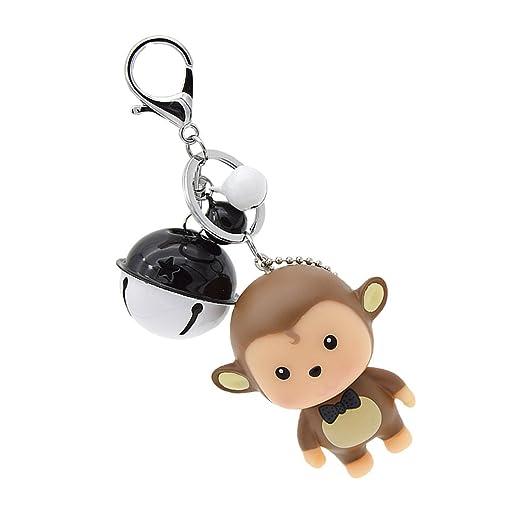 Cartoon Bear Card Holder Keychain Cute Bell Pendant Lobster Clasp Keyring  Gift 1