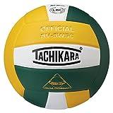 Tachikara SV5WSC Sensi-Tec Composite High Performance Volleyball, Dark Green/White/Gold