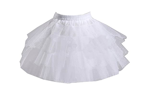 da5d0f601311e Jupon Court Fille En Tulle 3 Couches Jupe Lolita Crinoline Petticoat Pour  Danse Spectacle Fête Cérémonie