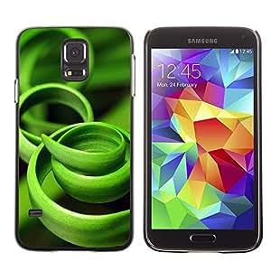 Be Good Phone Accessory // Dura Cáscara cubierta Protectora Caso Carcasa Funda de Protección para Samsung Galaxy S5 SM-G900 // Grass Green Black Nature