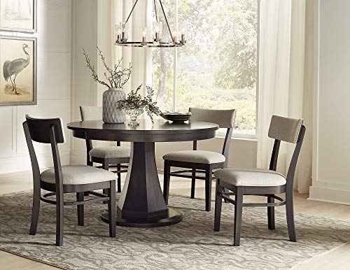 New Hickory Wholesale Amish Emerson Solid Wood 5-Pc Dining Set, Stained and Upholstered