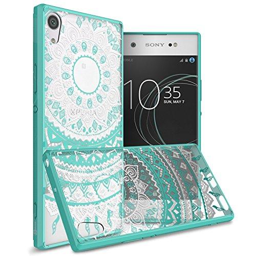CoverON Hard Slim Fit ClearGuard Series for Sony Xperia XA1 Ultra Case, Teal Mandala Design