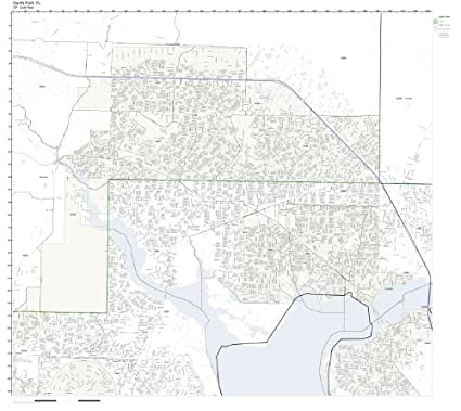 Map Of North Port Florida.Amazon Com Zip Code Wall Map Of North Port Fl Zip Code Map