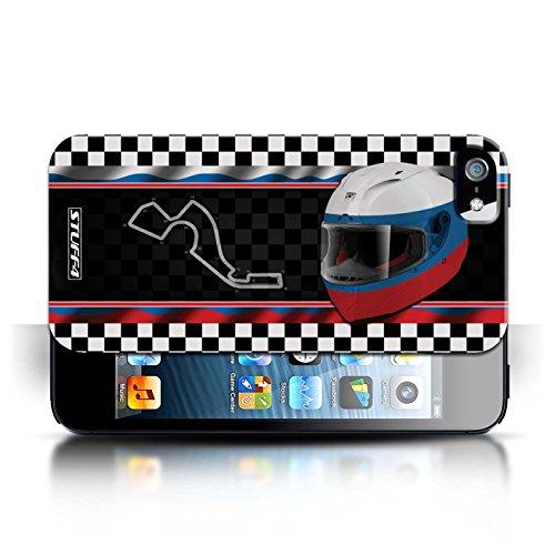 Etui / Coque pour Apple iPhone 5/5S / Russie/Sochi conception / Collection de F1 Piste Drapeau