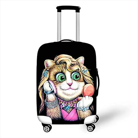ZYY Suitcase Cover Impresión Personal del Gato Fundas para ...