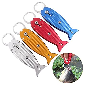 HiUmi Portable Fish Gripper Stainless Steel Handle Grab Carp Fish Shape Grip Alicate De Pesca Fishing