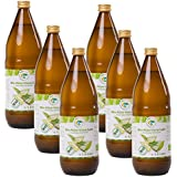 Bio Aloe Vera Saft 6 x 1l, naturtrüber Direktsaft, handfiletiert, aus kontrolliert biologischem Anbau, Abfüllung in Deutschland