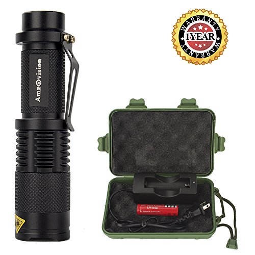 Mini-Flashlight-Amz-vision-Brightest-T6-LED-Flashlight-Torch-5-Modes-Adjustable-Focus-Zoomable-Tactical-Flashlight
