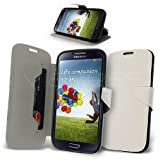 Celicious White Ultrathin PU Leather Wallet Case for Samsung Galaxy S4 I9500