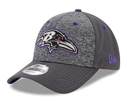 Baltimore Ravens Cap - NFL Baltimore Ravens Adult Men The League Shadow 2 9FORTY Adjustable Cap, One Size, Graphite