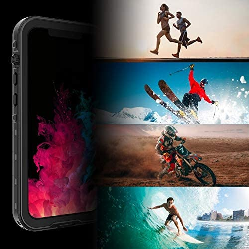 TOWEVINE for iPhone 12 Pro Max Case Waterproof Clear Sound Quality Built in Screen Protector IP68 Waterproof Full Body Sealed Underwater Protective Cover 6.7 inch 2020