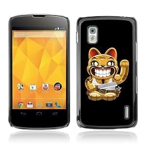 Designer Depo Hard Protection Case for LG Nexus 4 E960 / Cat With Moustache