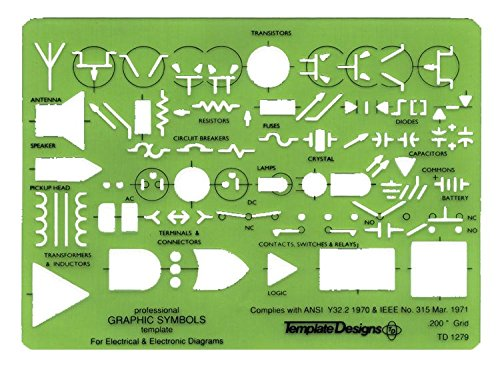Alvin TD1279 Electric/Electronic Template by Alvin