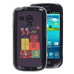 A-type Arte & diseño plástico duro Fundas Cover Cubre Hard Case Cover para Samsung Galaxy S3 MINI 8190 (NOT S3) (Charismas Decorations Grey Winter)