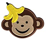 PatchMommy Iron On Applique Patch, Boy Monkey - Kids Baby