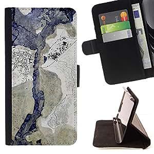 For HTC One M9 Case , Spots Manchas Pastel Azul Beige- la tarjeta de Crédito Slots PU Funda de cuero Monedero caso cubierta de piel