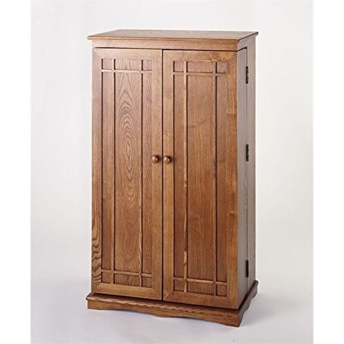 Bowery Hill 40'' CD DVD Media Storage Cabinet in Dark Oak by Bowery Hill