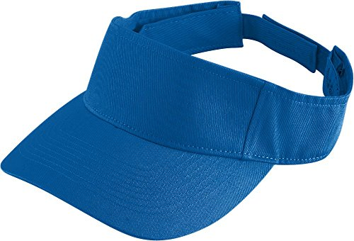 Augusta Sportswear KIDS' SPORT TWILL VISOR OS (Royal Youth Visor)