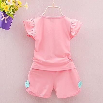 Yyuemao Baby Girl Clothes Cotton Summer Tee+Short Pants Kids Girls Casual Outfits Dot