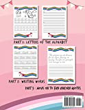 Cursive handwriting workbook: Unicorn Cursive