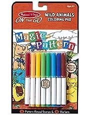 Melissa & Doug Magic-Pattern Kids' Wild Animals Marker Coloring Pad On The Go Travel Activity