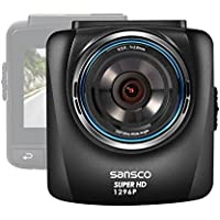 [EXTREME HD] SANSCO 2K 1296P 2304x1296 Car Dash Cam, 2.4-Inch Screen In-Car Dashboard Camera with G-Sensor and Emergency Recording