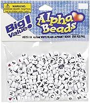ALPHA BEADS 7 mm Rnd (250 piezas), color blanco