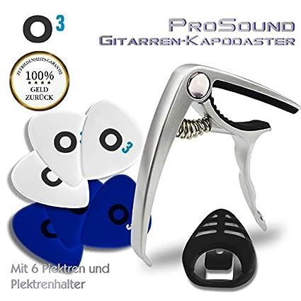O3 ProSound - Cejilla para guitarra acústica, guitarra de concierto, guitarra acústica, guitarra
