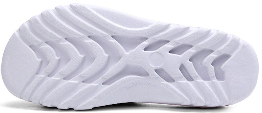 Phefee Mens Slide Sandals Anti-Slip Lightweight Bathroom Shower Slipper(Red40) by Phefee (Image #4)