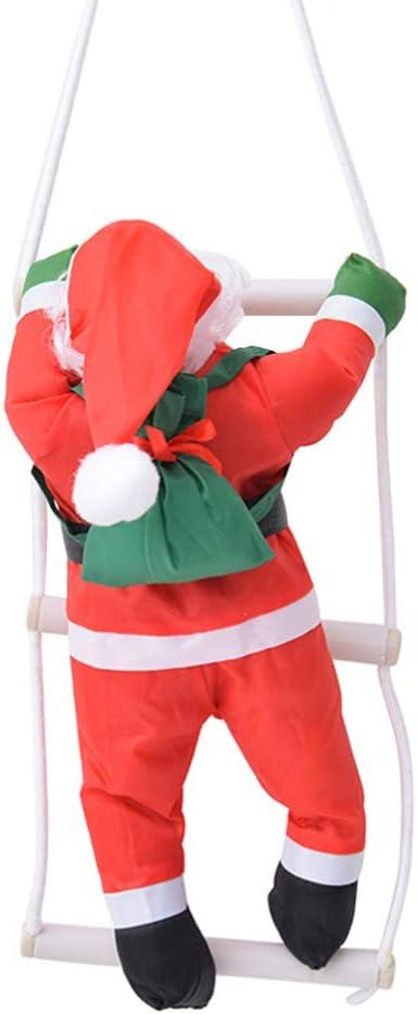 Vosarea - Figura de Papá Noel Escalera de Felpa para Colgar en el árbol de Navidad: Amazon.es: Hogar