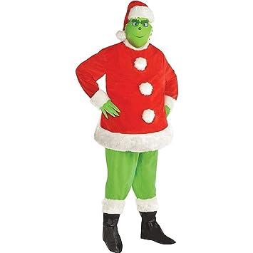 Amazon.com: Disfraz de Papá Noel para adultos, talla grande ...