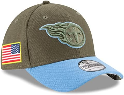 premium selection c023d 71a64 Amazon.com   Tennessee Titans New Era NFL 39THIRTY 2017 Sideline