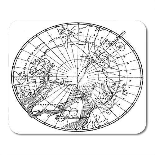 Boszina Mouse Pads Dr Nansen's Path Across The Arctic Circle Engraving by Schyubler Published in Magazine Niva Publishing Mouse Pad for notebooks,Desktop Computers mats 9.5