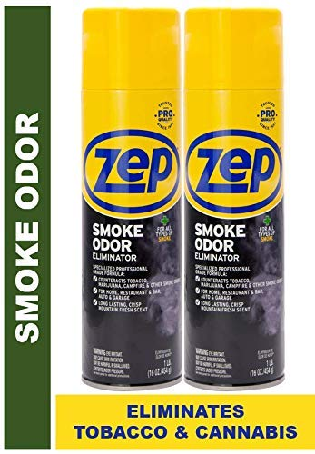 Zep Smoke Odor Eliminator Aerosol ECZUSOE162 (Pack of 2) - Eliminate Cannabis (Marijuana) and Tobacco Odors