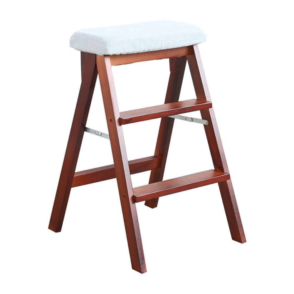 TH 階段スツールソリッドウッドフォールドステップスツールキッチンスツールポータブル家庭用ベンチリビングルーム物事を取るスツールウォールナット48 * 42 * 67センチメートル (色 : Style-3) B07DWKDGTR Style-3 Style-3