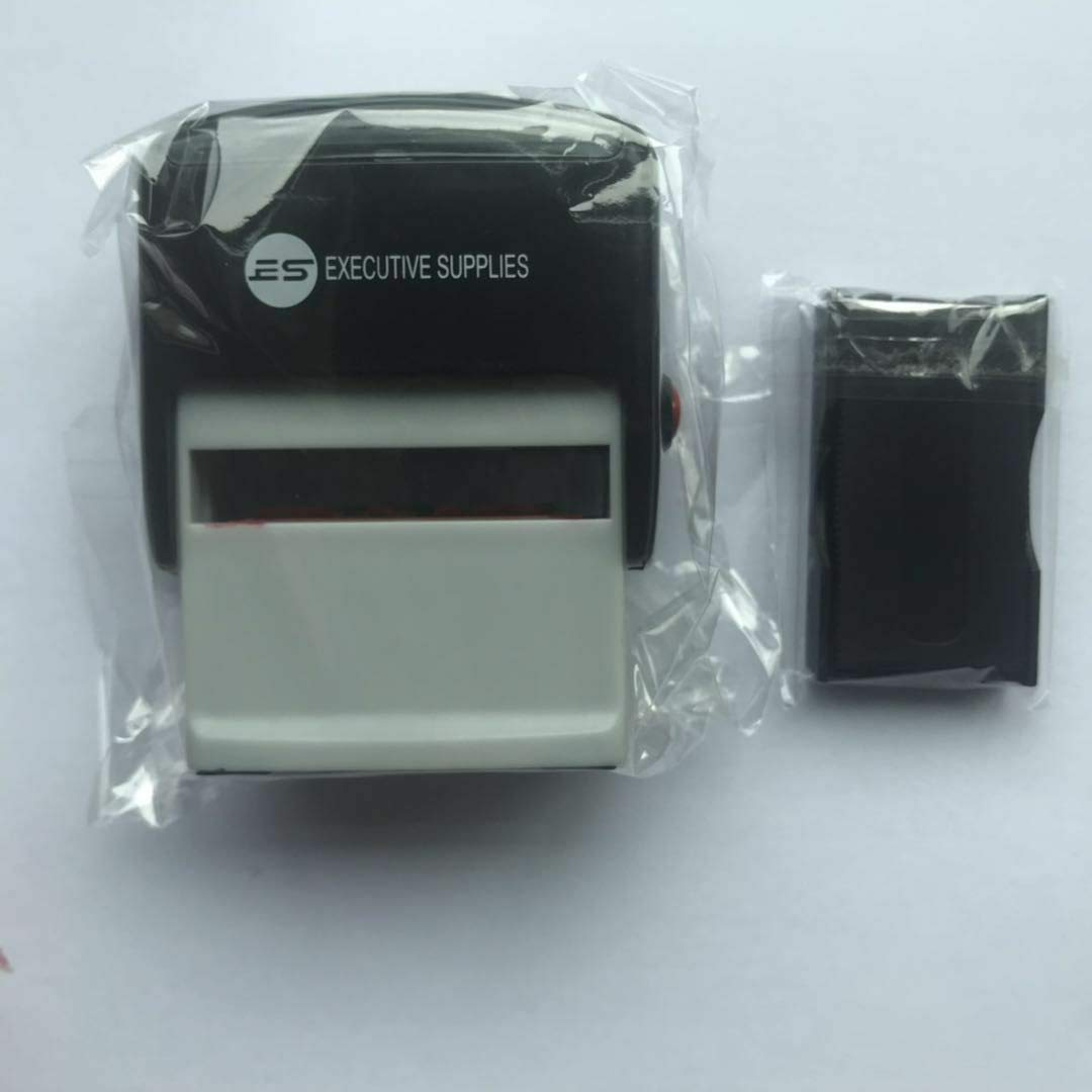 Paid Self Inking Rubber Stamp for Professional and Personal Use|Fast Drying Ink Executive Supplies Red Ink