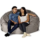 "Take Ten Giant 60"" Luxury Bean Bag Chair – Multiple Colors / Seats 2 Adults / Durable and Comfortable"
